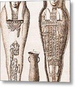 Egyptian Mummy, Illustration Metal Print