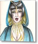 Egyptian Princess Metal Print by Scarlett Royal