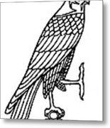 Egyptian Symbol: Falcon Metal Print