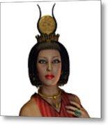 Egyptian Woman Crown Metal Print