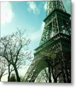 Eifell Tower View From Taxi II. Metal Print