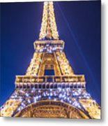 Eiffel Tower At Dusk. Metal Print