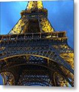 Eiffel Tower At Night. Paris Metal Print