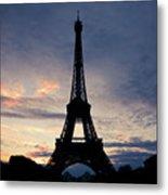 Eiffel Tower At Sunset, Paris, France Metal Print by Photo by rachel kara