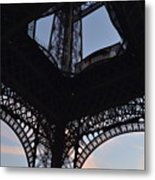 Eiffel Tower Corner Metal Print