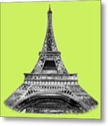 Eiffel Tower Design Metal Print