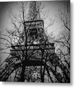 Eiffel Tower During The Winter. Metal Print