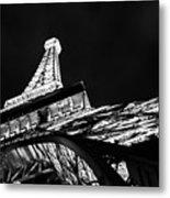 Eiffel Tower Las Vegas Metal Print