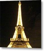 Eiffel Tower Light Metal Print