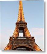 Eiffel Tower Lighted  Metal Print