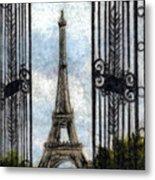 Eiffel Tower Metal Print by Melissa J Szymanski