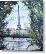 Eiffel Tower Paris France 2001   Metal Print