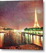 Eiffel Tower Reflections Metal Print