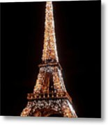 Eiffel Tower Sparkling Metal Print