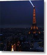 Eiffel Tower Spotlight Paris France Metal Print