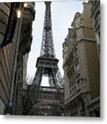 Eiffel Tower Through A Concrete Forest Metal Print