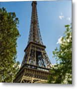 Eiffel Tower Through Trees Metal Print