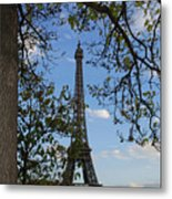 Eiffel Tower Tree Metal Print