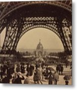 Eiffel Tower, View Toward The Central Metal Print by Everett