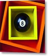 Eight Ball In Box Metal Print