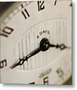 Eight Days A Week Clock Metal Print