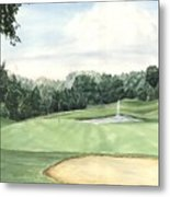 Eight Green The Trails Golf Course Metal Print by Lane Owen