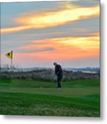 Eighteenth Green At Sunset Metal Print