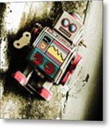 Eighties Cybernetic Droid  Metal Print