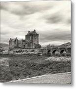 Eilean Donan Castle Bw 1337 Metal Print
