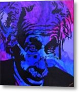 Einstein-all Things Relative Metal Print by Bill Manson