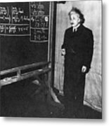 Einstein At Princeton University Metal Print