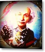 Einstein On Pot Metal Print