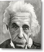 Einstein's Eyes Metal Print