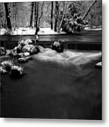 Eisbach In The Winter Metal Print