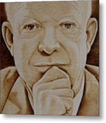 Eisenhower The Man - Poster Metal Print