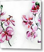 Either Orchid Metal Print