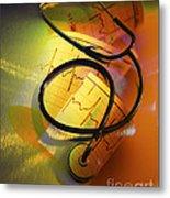 Ekg Stethoscope Composite Metal Print