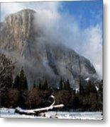El Capitan Yosemite Clearing Storm Metal Print