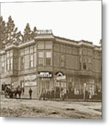 El Carmelo Bakery Lighthouse And Forest Ave. Circa 1890 Metal Print