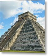 El Castillo Of Chichen Itza Metal Print