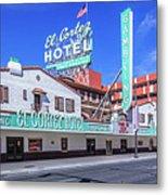 El Cortez Hotel On Fremont Street 2.5 To 1 Ratio Metal Print