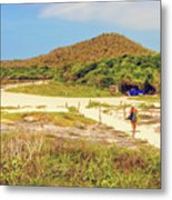 El Garrapatero Beach On Santa Cruz Island In Galapagos. Metal Print
