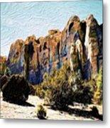 El Morro Cliffs Metal Print