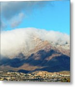 El Paso Franklin Mountains And Low Clouds Metal Print