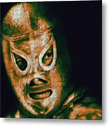 El Santo The Masked Wrestler 20130218 Metal Print by Wingsdomain Art and Photography