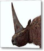 Elasmotherium Head Metal Print