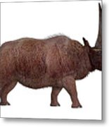 Elasmotherium Side Profile Metal Print