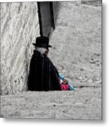 Elderly Beggar In Chordeleg Metal Print