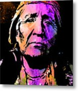 Elderly Hupa Woman Metal Print