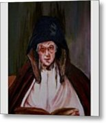 Elderly Lady Reading A Book Metal Print